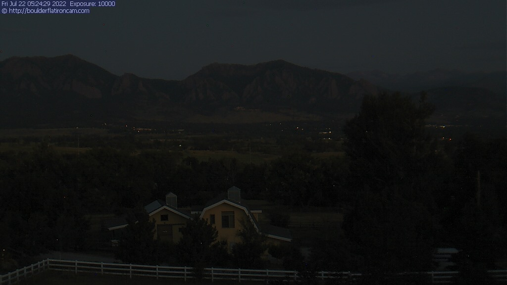 Webcam for Boulder Flatirons